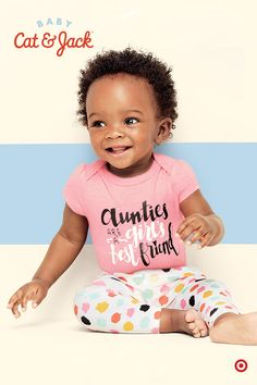 The sweetest mix-and-match apparel for girls is here, and is exclusively at Target. Baby Cat & Jack is a new clothing collection that features separates and sets that are soft, cozy and durable. Available in fun prints, patterns and positive messaging, these clothes are perfectly adorable for your little girl.