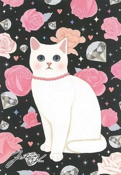 Jetoy Choo choo cat postcard - Night 2 by PCmarja2006 #CatIllustration