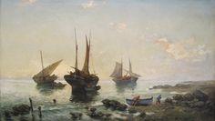 Emilio Ocón y Rivas. Retorno de la pesca, 1897. Colección Carmen Thyssen-Bornemisza en préstamo gratuito al Museo Carmen Thyssen Málaga