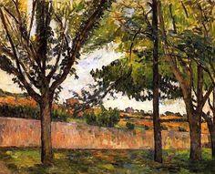Paul Cezanne - At Jas de Bouffan