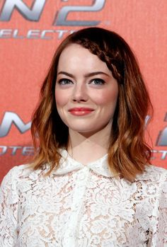 Emma Stone's runway ready braid