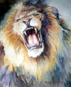 original paintings the head of roaring lion paintings