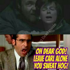 Basically how I reacted during this scene. Except I was crying a bit cause I really thought he was going to hurt my Carl.