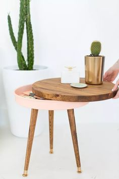 DIY Storage Side Table