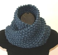 Chunky Knit Infinity Cowl Scarf  9.50 inches wide x 24.00 inches around