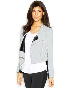RACHEL Rachel Roy Long-Sleeve Colorblocked Cropped Jacket