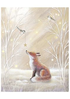 Gentle, kind and very nice illustration of Sarah Summers. Discussion on LiveInternet - Russian Service Online diary Fuchs Illustration, Cute Illustration, Friends Illustration, Christmas Pictures, Christmas Art, Fox Art, Christmas Illustration, Woodland Creatures, Whimsical Art