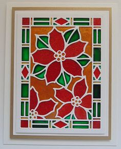 Inky Finger Zone: Stained Glass Poinsettia
