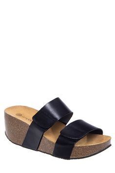95dbe5440b2 Lola Sabbia - Cody Mid Wedge Slide Sandal - Black