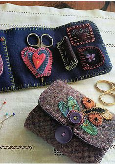 Wool Sewing Wallet Quilt Pattern Pieced/Applique RW