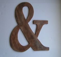 Wedding Ampersand Old World Wood Grain Rustic 2 by Route17West, $35.00