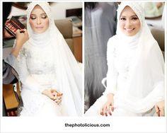 Bridal Veil Hijab Brides 39 Ideas For 2019 Muslim Wedding Gown, Muslim Wedding Dresses, Muslim Brides, Wedding Hijab, Wedding Gowns, Bridal Hijab, Hijab Bride, Muslimah Wedding, Malay Wedding