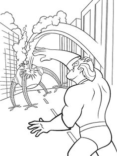 monster robots vs mr incredibles coloring pages