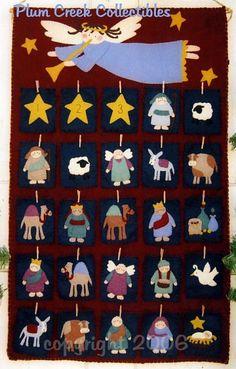 """Nativity Advent Calendar, Christmas """"flip"""" Advent calendar from woolfelt! Fun…"""