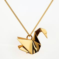Sautoir Cygne - Sautoirs - origami-jewellery