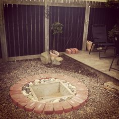 Our homemade fire pit x