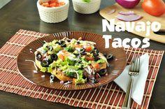 Navajo Tacos made with homemade refried beans. found at www.thekusilife.com