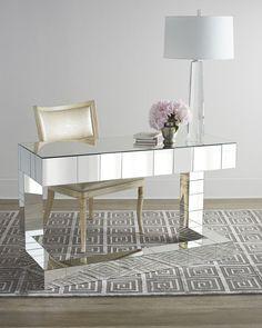 Mirrored writing desk