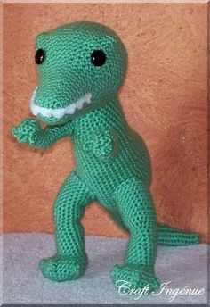T Rex and many other crochet toy patterns