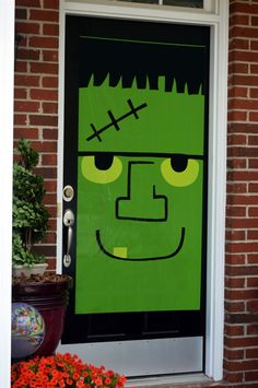 Get your home ready for Halloween and trick-or-treaters with these cute Mummy and Frankenstein door covers! Each decorative plastic sheet door cover is 30 inches x 60 inches. Halloween Door Decorations, Valentines Day Decorations, Halloween Crafts, Halloween Ideas, Halloween Stuff, Fall Classroom Door, Classroom Ideas, Halloween Bulletin Boards, Door Coverings