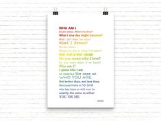 Who Am I Quote Poster Printabale   Etsy