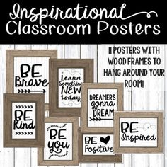 Decorate your classroom while adding a little inspiration!This product includes 11 posters to display around your room! You can even make a galley wall in your classroom that is full of inspiration!Perfect for empty wall space, bulletin boards, door decorations, outside the classroom decorations, etc.
