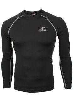 XPRIN XP100 Series Base Layer Compression Long Sleeve Sports Wear uv 97.5%  (L,