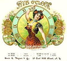 Five O'clock cigar box label
