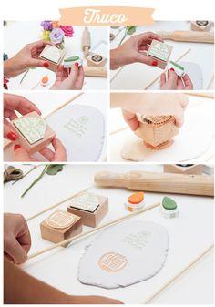 Cómo hacer medallones o etiquetas de cerámica usando sellos