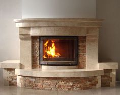 Fireplace Facade, Fake Fireplace, Stove Fireplace, Fireplace Remodel, Fireplace Wall, Fireplace Design, Bloomfield Homes, Indoor Outdoor Fireplaces, Classic Fireplace