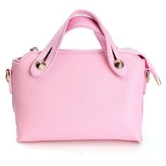 Women Candy Color Leather Mini Handbag ($11) ❤ liked on Polyvore featuring bags, handbags, zipper pouch, leather hand bags, leather zipper pouch, pink handbags and hand bags
