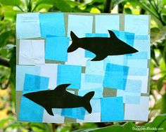 Here's a shark craft for kids perfect for an ocean theme or for shark week. We used these shark suncatchers to decorate for my daughter's shark-themed birthday party!
