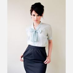 cute retro office attire. I wonder if I can pull this look off.