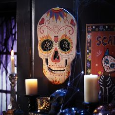 20 Halloween Decor Finds That Aren't Cheesy - Brit + Co Chic Halloween, Halloween 2015, Halloween Party Decor, Day Of The Dead Party, Scary Costumes, Skull Decor, Black Candles, Fancy Pants, Hallows Eve