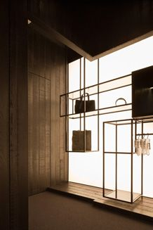 Lighting in Handbag Store Display Shelves, Shelving, Fashion Showroom, Store Windows, Retail Interior, Shelf Design, Retail Space, Shop Interiors, Retail Shop
