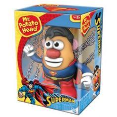 Mr Potato Head Superman Mr Potato Head. http://www.nzgameshop.com/figurines/mr-potato-head-superman-mr-potato-head