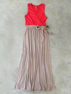 Coral Beach House Maxi Dress <3 #sew #maternity