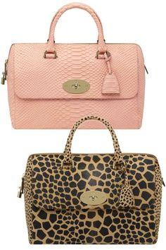 Nude pink handbag. Leopard print handbag.