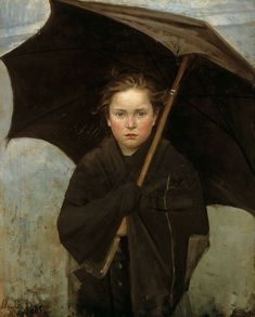 Marie Bashkirtseff (Ukrainian, 1858 - 1884): The Umbrella (1883) (via The Athenaeum)
