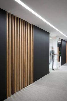 Image by Мо Ни on Декори in 2020 Home Bedroom Design, Design Home App, Corridor Design, Partition Design, Cladding Design, Wall Cladding, Corporate Interiors, Office Interiors, Contemporary Interior Design