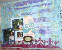 "Página Art Journal ""Celebrate Blessings"""