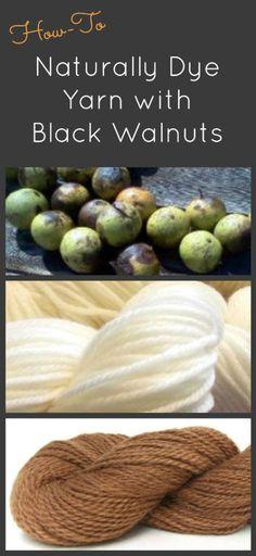 Naturally Dyeing Yarn with Black Walnuts, a Fiberartsy.com tutorial