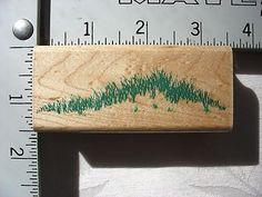 Rubber Stampede Grassy Hilltop DESTASH Rubber Stamp, Used Rubberstamp