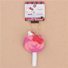 slow rising, soft sponge squishies charm, dessert, with Sanrio character Hello Kitty