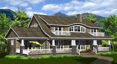 Craftsman Home Plans - Robinson Plans 4000 Sq Ft House Plans, Two Story House Plans, Dream House Plans, Log Home Floor Plans, Cottage Floor Plans, Cottage Plan, Craftsman Exterior, Craftsman Bungalows, Craftsman House Plans