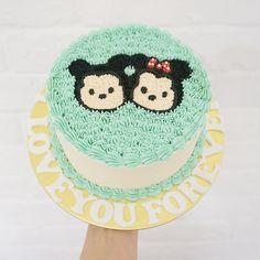 "mysisterbakes: ""A Disney tsum tsum cake for a proposal. :) """