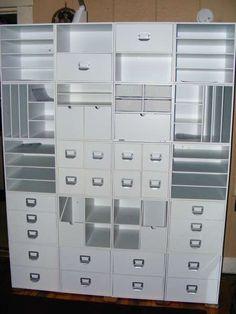 #papercraft #craftroom #organization. cube storage | Scraproom: New Cube Arrangement | Craft rooms / Organization / Storage
