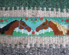 Patrón de grano telar diseño de cola de caballo beadloom por cynhal