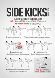 Side Kicks Practice Workout