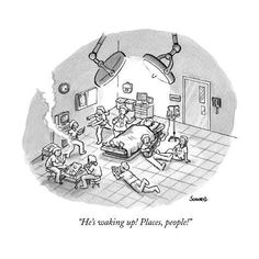 Medical Cartoons Prints at the Condé Nast Collection cartoon New Yorker Cartoons - Medical Art for Sale Medical Jokes, Medical Art, Cartoon Posters, Cartoon Jokes, Anesthesia Humor, Medicine Humor, Hospital Room, New Yorker Cartoons, Medical Design